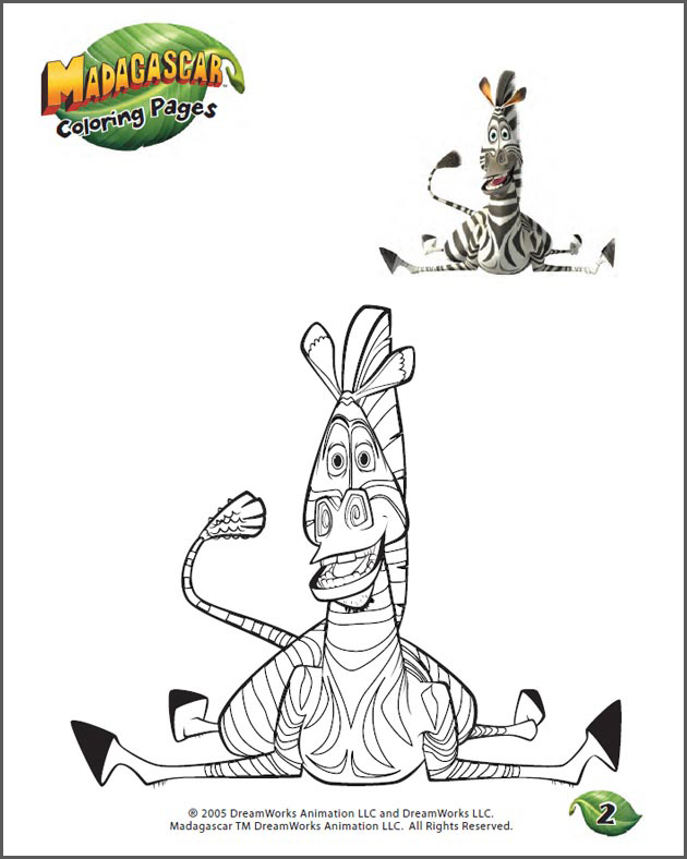 Color Marty - 2 - Printable Coloring Page for Kids - JumpStart