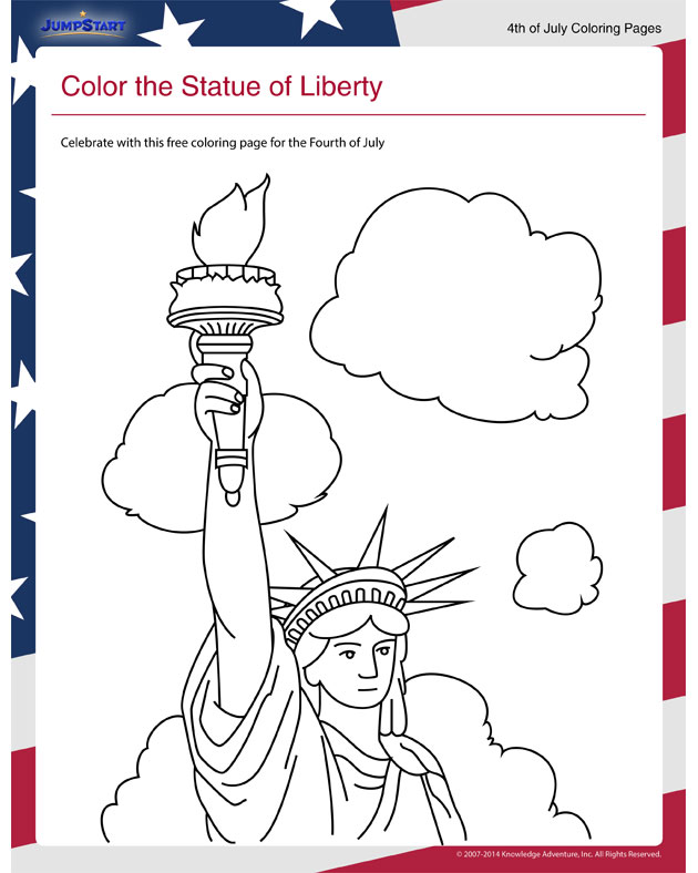 Color the Statue of Liberty View - Coloring Pages for ...