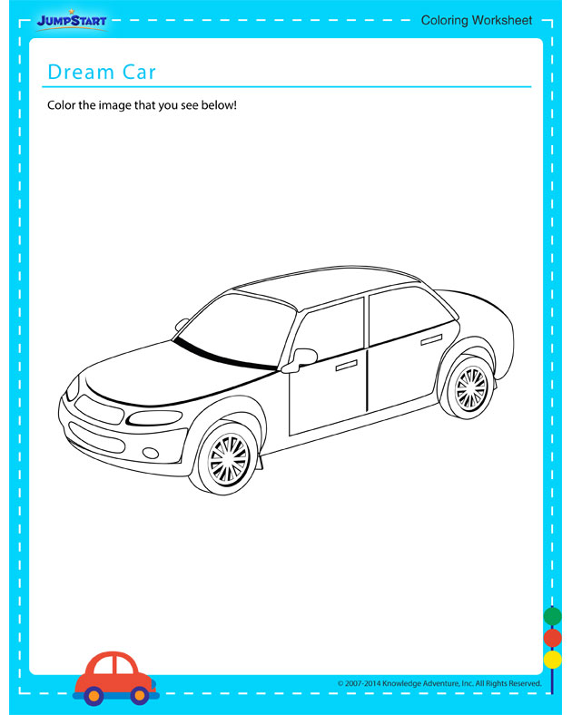 Dream Car - Free coloring page for kids on vehicles