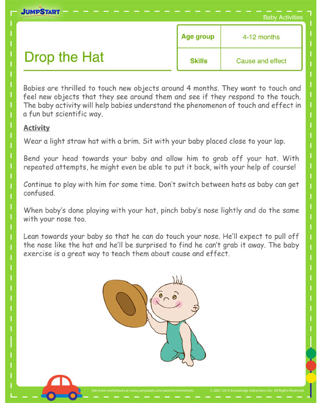 Drop the Hat! - Toddler Learning Activities