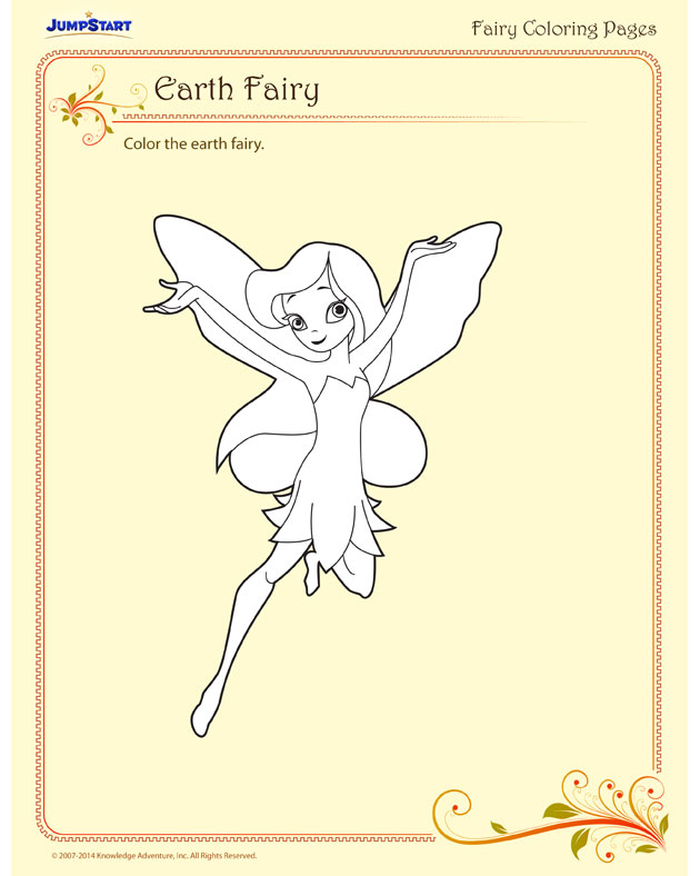 Earth Fairy - She's waiting for you to color her!