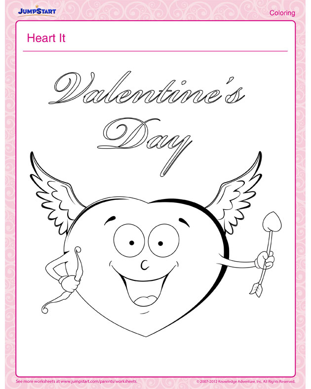 See 'Heart It' - Cool Valentine's Day Coloring Page