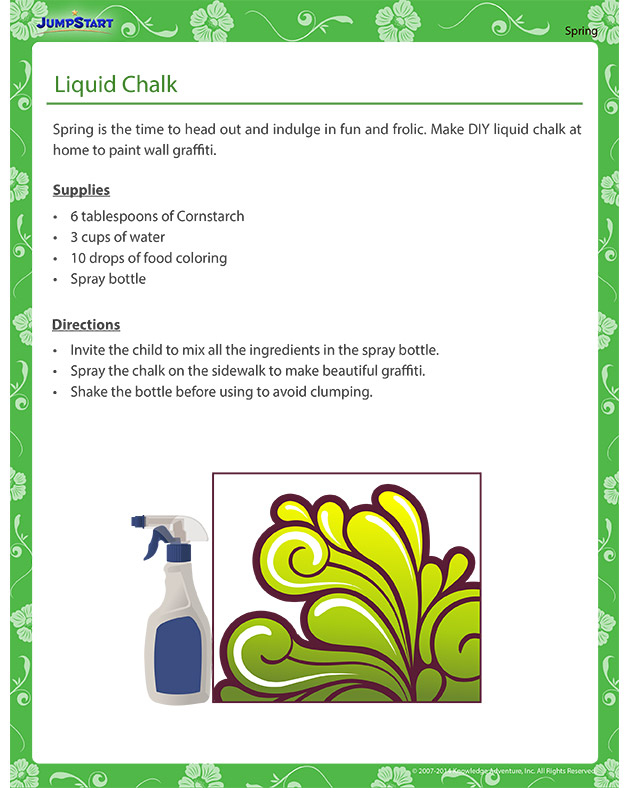 Liquid Chalk - Spring themed crafts