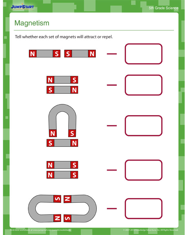 Magnetism - Free Science Worksheet