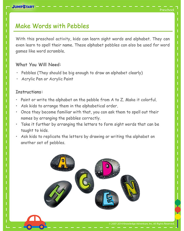 Make Words with Pebbles