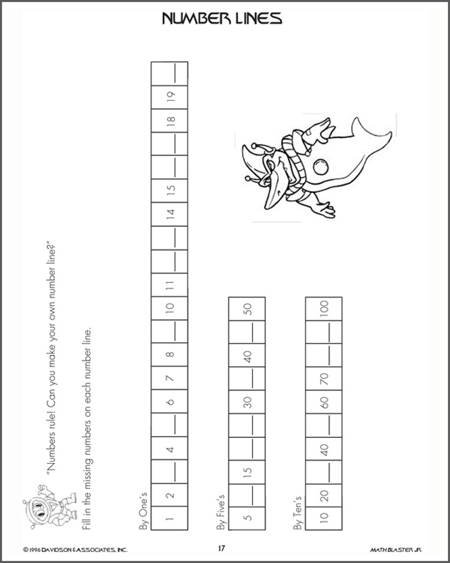 Number Lines - Free and Printable Kindergarten Math Worksheet