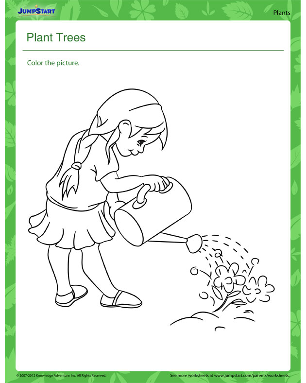 Plant Trees - Free Science Worksheet