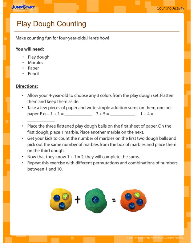 Play Dough Counting - Fun Counting Activity for 4 Year Olds