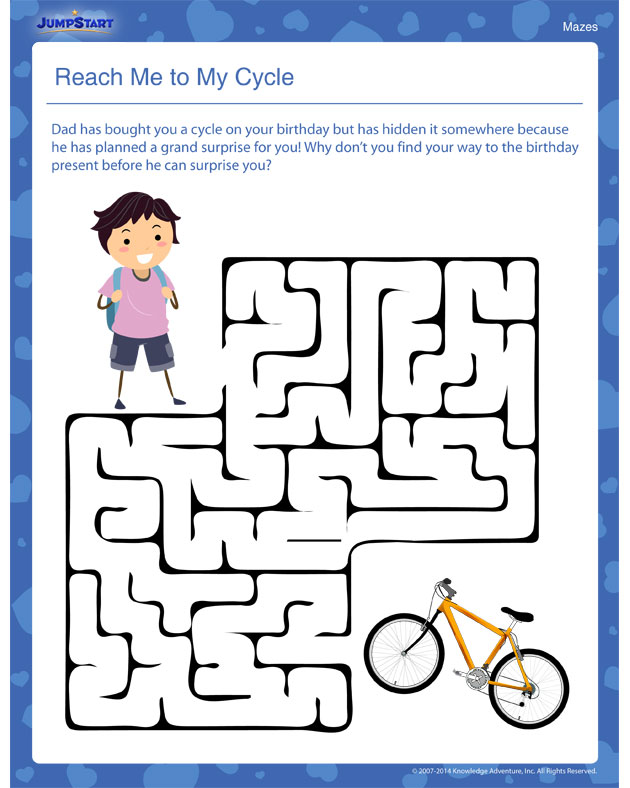 Reach Me to My Cycle! – Learning Practice this free worksheet with the kids