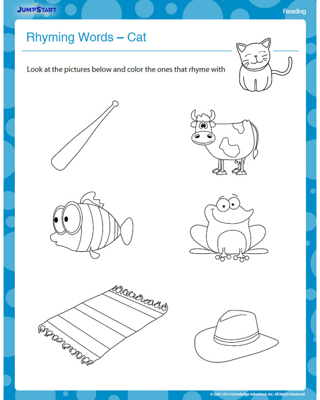 Rhyming Words – Cat