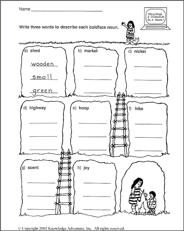 The Message: Descriptionary - Free English Activity for Kids