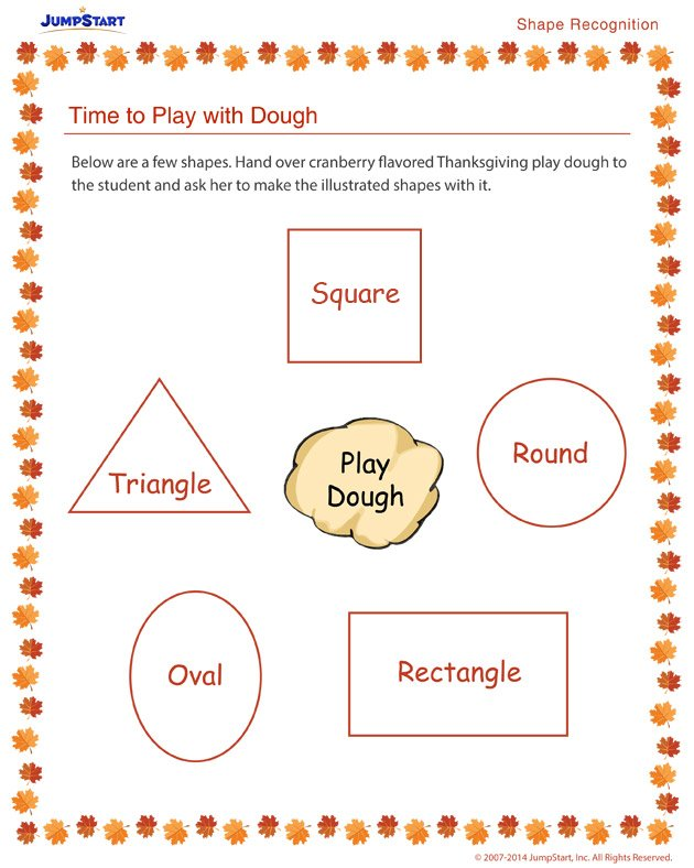 Time to Play with Dough - Free holiday worksheets for kids