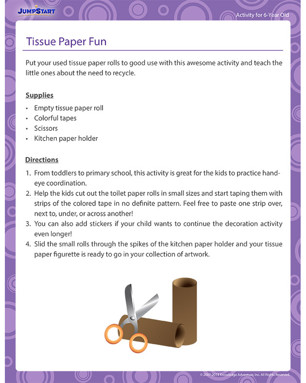 Tissue Paper Fun - Activities for 6-year olds