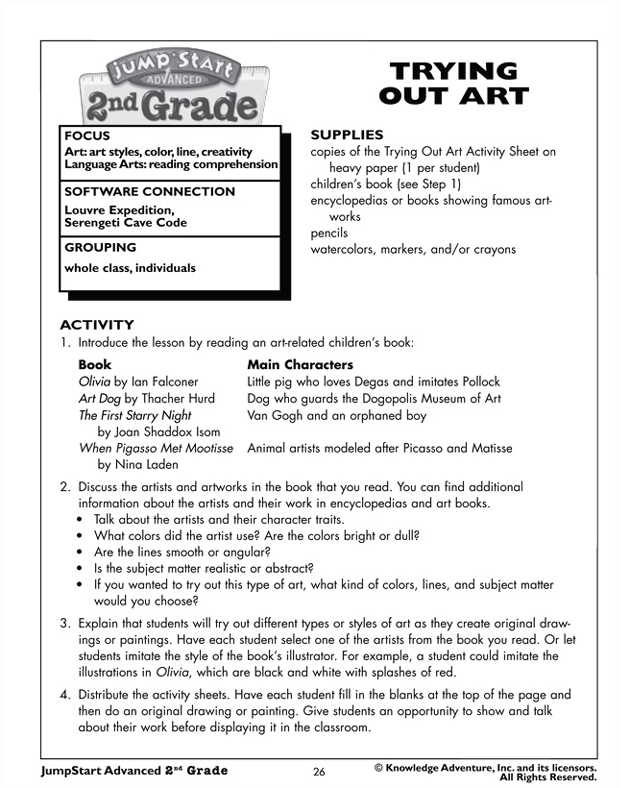 Trying Out Art - Free Worksheet for Kids