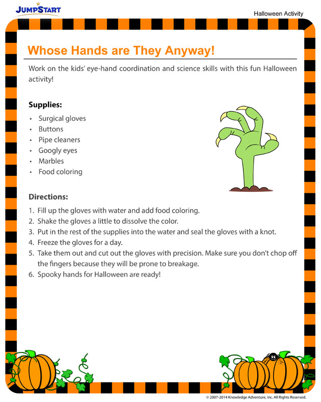 Whose Hands are They Anyway? - Downloadable Halloween Activity for Kids