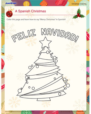 a spanish christmas free fun coloring pages jumpstart
