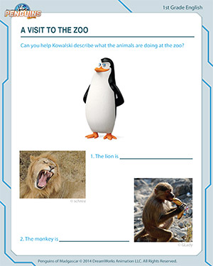 A Visit to the Zoo - English Worksheet
