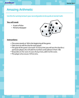 Amazing Arithmetic - Free Math Activity for 2nd Grade
