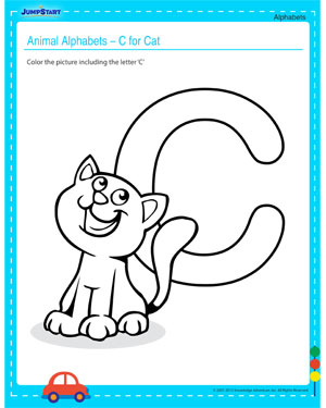 Animal Alphabets – C for Cat – Alphabet Worksheet Printable and Free