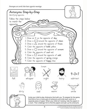English Worksheets english worksheets for free : Antonyms: Step-by-Step – 2nd Grade English Worksheet – JumpStart