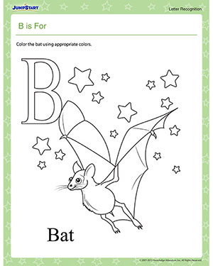B is For - Free Phonics Worksheet for Preschool