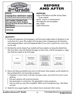 Before and After - Free 2nd Grade English Worksheet