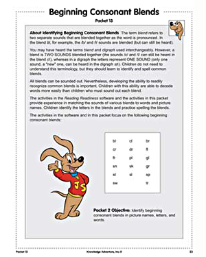 Beginning Consonant Blends - Free Reading Worksheet for Kids