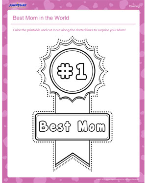 Best Mom in the World – Mother's Day Coloring Pages for Kids