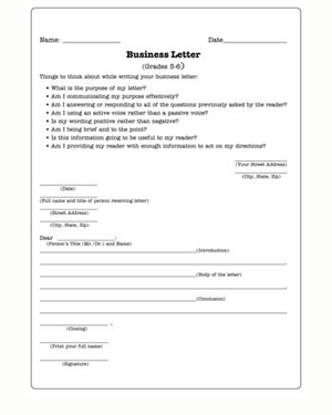 Business Letters - Free English Worksheet for Kids