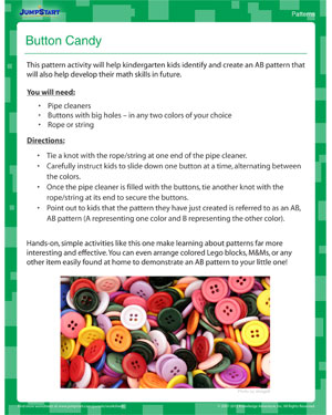 Button Candy - Pattern activity for kids