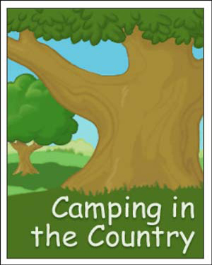 Camping in the Country - Free Kindergarten English Worksheet