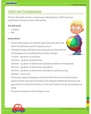 Catch and Consequences – Free Fourth Grade Activity for Motor Skills