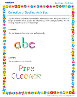 Collection of Spelling Activities - Spelling activity for kids