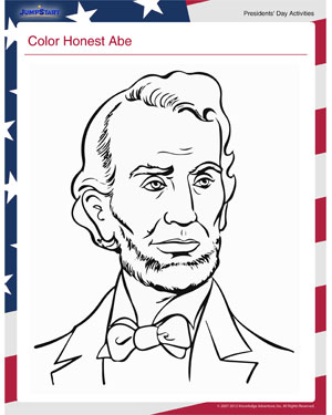 Color Honest Abe - See this Interesting Children's Activity for Presidents' Day