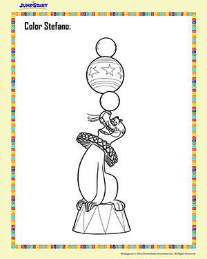 Color Stefano – 2 – Madagascar Coloring Worksheet