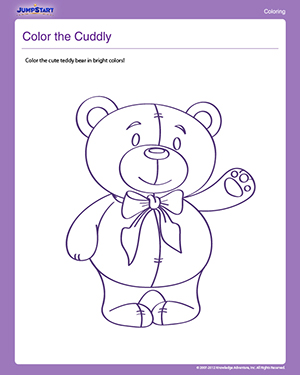 Color the Cuddly - Free Coloring Worksheet for Preschoolers