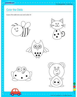 Color the Odds - Free printable worksheet