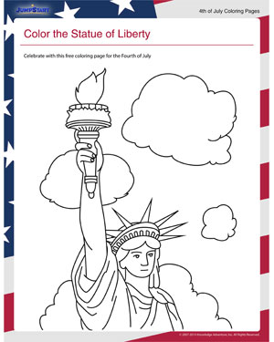 Color The Statue Of Liberty Coloring Pages For Fourth Of July Jumpstart