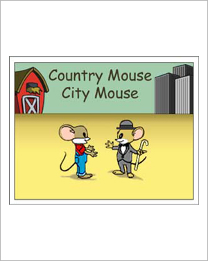Country Mouse, City Mouse - Free Reading Activity for Kids