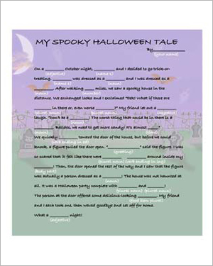 Make Your Own Halloween Tale - Free English Worksheet for Kids