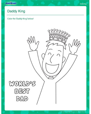 Daddy King – Father's Day Worksheet
