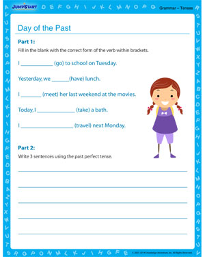 Days of the Past - Grammar worksheet for kids