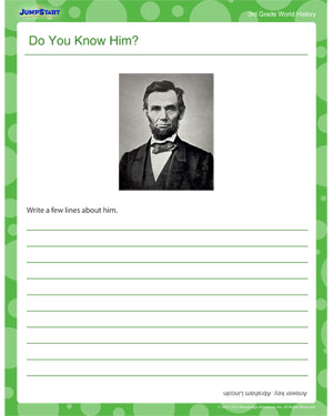 Do You Know Him? - Printable World History Worksheet for Third Grade