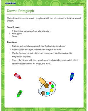 Draw a Paragraph - Printable 2nd grade activity