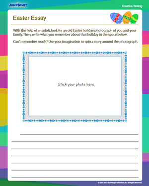 Easter Essay - Free English Worksheet for 3rd Grade