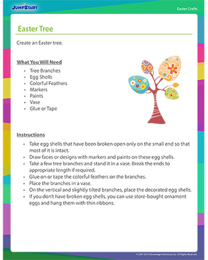 See 'Easter Tree' - Easter Craft Online for Kids