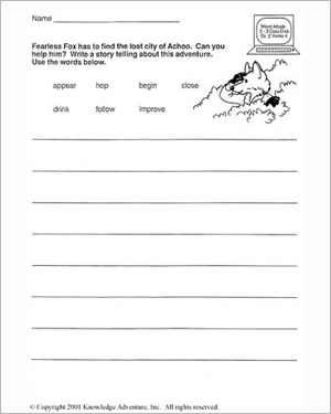 Fearless Does it Again: Finding the Lost City - Free English Worksheet for Kids