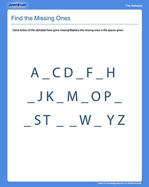Find the Missing Ones - Free Preschool Writing Worksheet