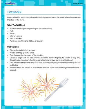 Fireworks - Social Studies activity for kids