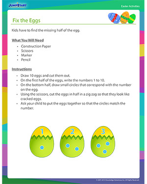 See 'Fix the Eggs' - Easter Activity Free